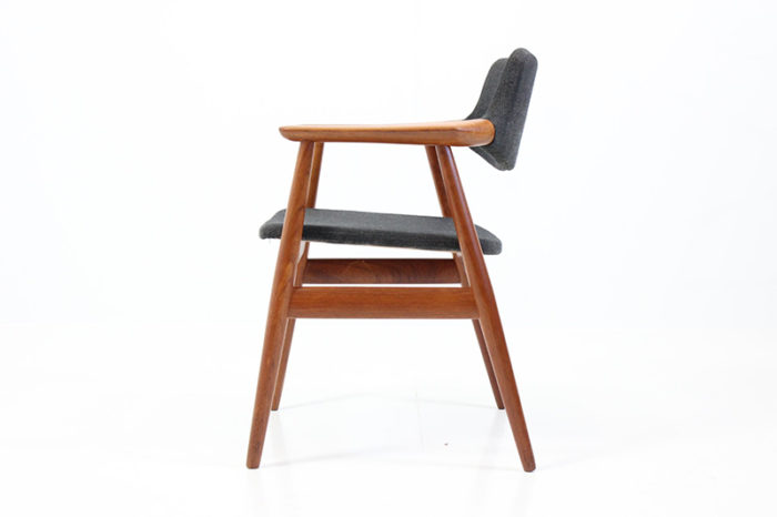Retro Vintage Floating Back Armchair by Erik Kirkegaard for Høng Stolefabrik