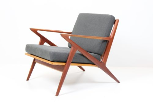 Retro Vintage Armchair Z by Poul O. Jensen for J.M. Birking & Co.