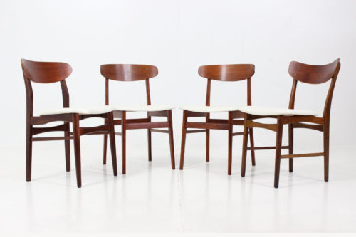 Vintage Dining Chairs by Illum Wikkelsø for Farstrup Savvaerk