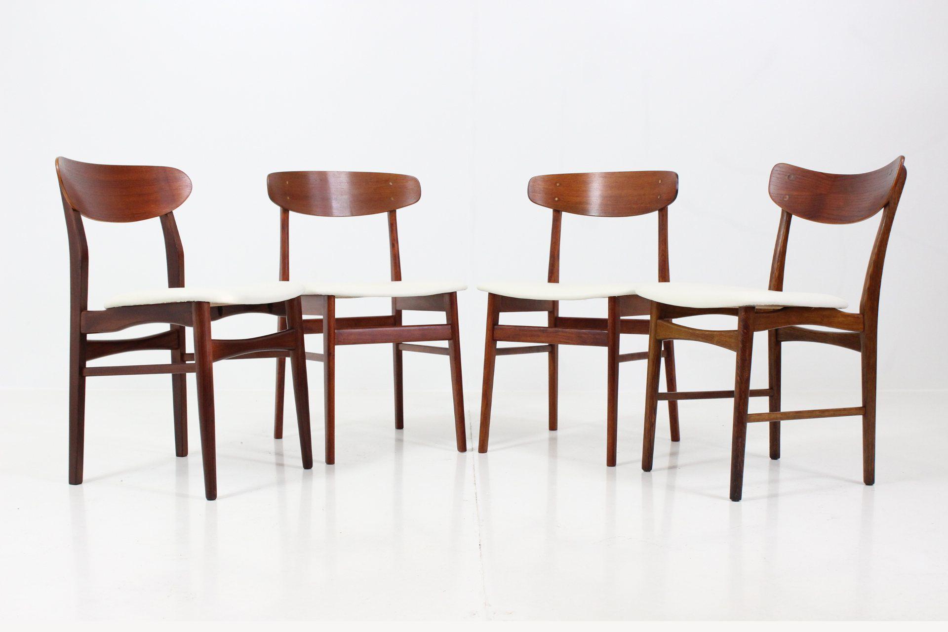 Vintage Dining Chairs by Illum Wikkelsø for Farstrup Savvaerk