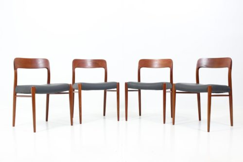Vintage Side Chairs no. 75 by Otto N. Møller for J.L. Møllers Møbelfabrik