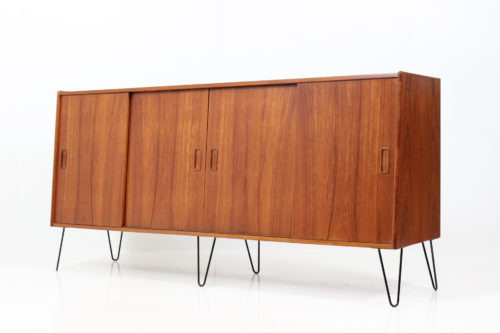 Retro Vintage Original Sliding Door Sideboard in Teak