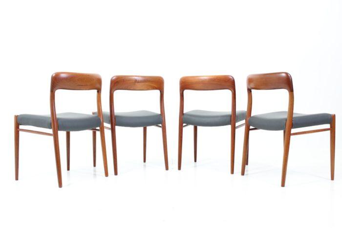 Vintage Side Chairs no. 75 by Otto N. Møller for J.L. Møllers Møbelfabrik