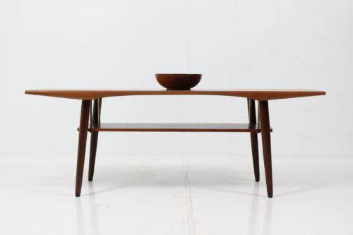 Retro Vintage Organic Shaped Coffee Table in Teak