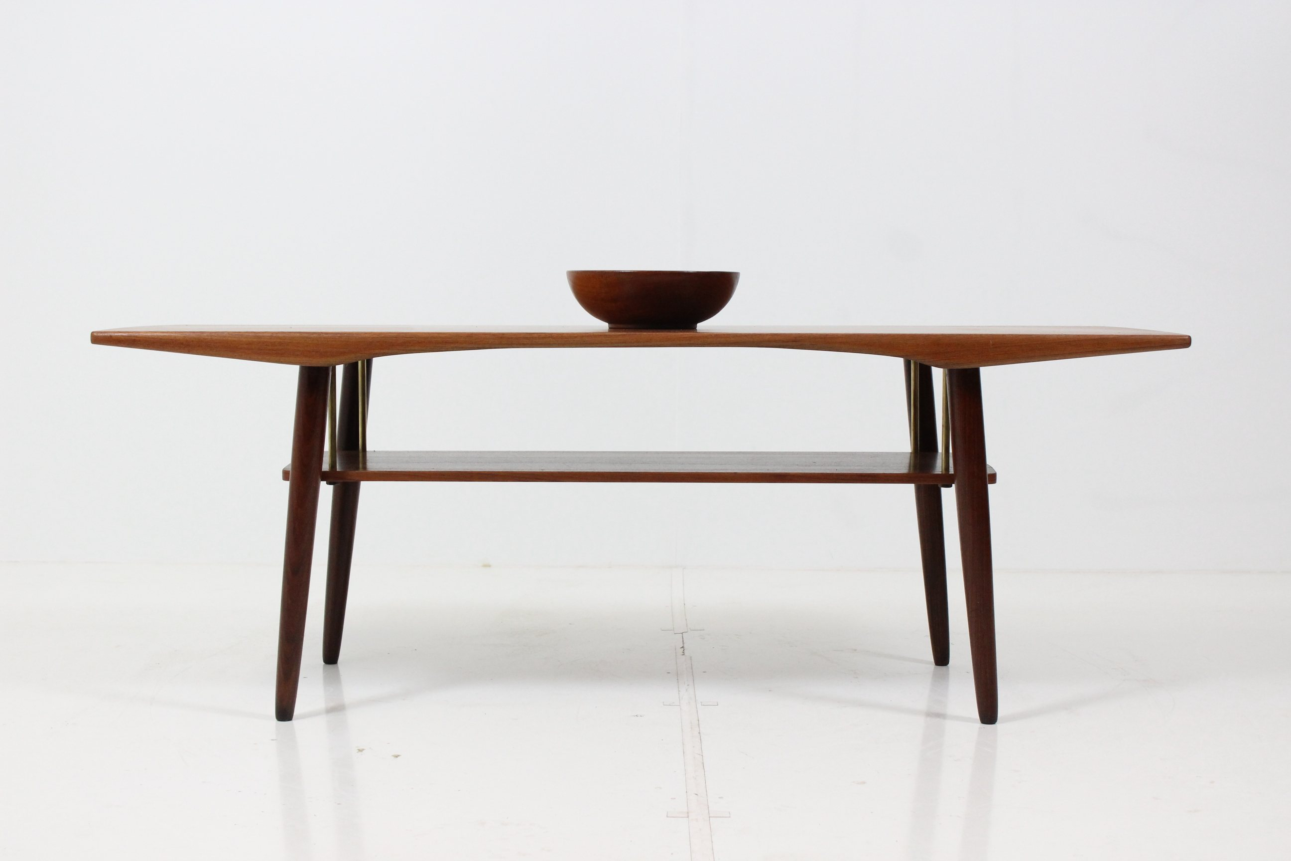 Retro Vintage Organic Shaped Coffee Table in Teak