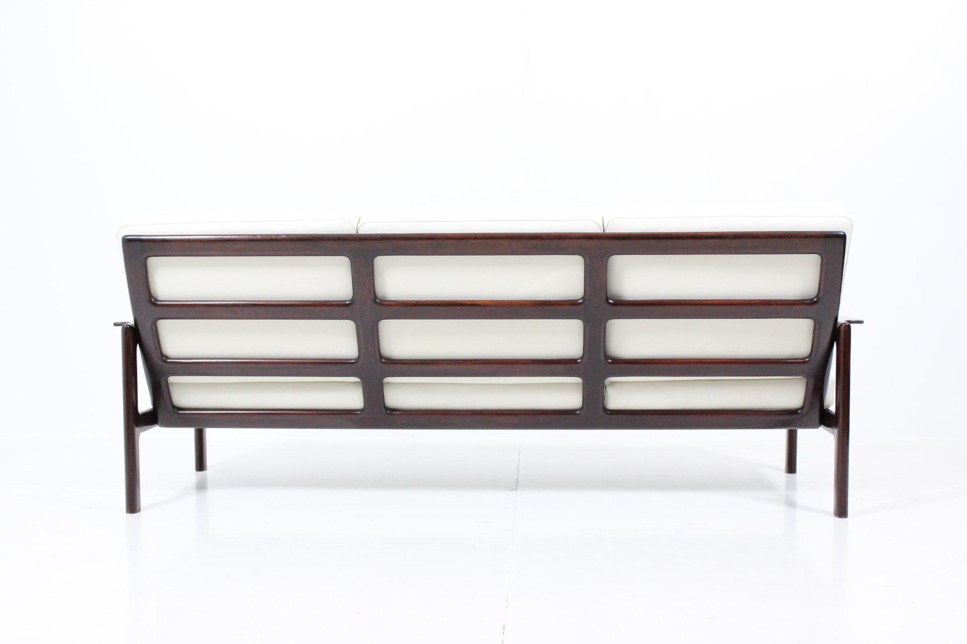 Retro Vintage Classic Mid-Century Cushion Sofa by Illum Wikkelsø