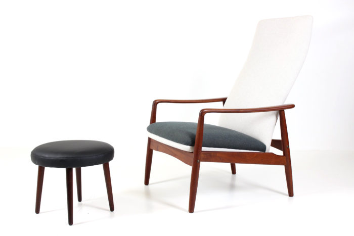 Retro Vintage Reclining Lounge Chair by Søren B. Ladefoged for SL Møbler