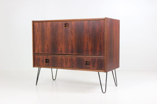 Vintage Retro Sliding Door Sideboard by Ærthøj Jensen for Ærthøj Jensen & Mølholm
