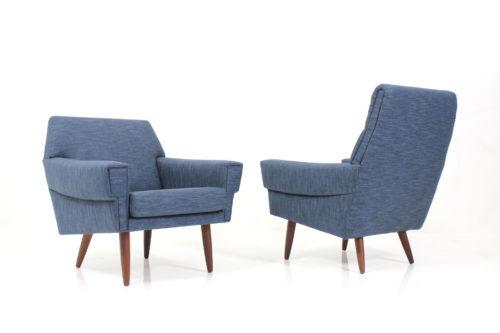 Danish Vintage Retro Asymmetric Armchairs by Georg Thams