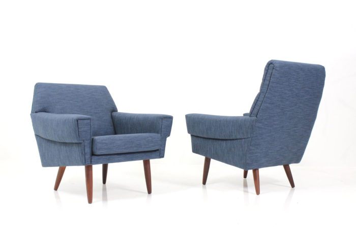 Danish Vintage Retro Asymmetric Armchairs by Georg Thams