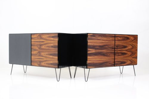 Vintage Black Gold Series Sideboards no. 4 by Gunni Oman for Omann Jun's Møbelfabrik