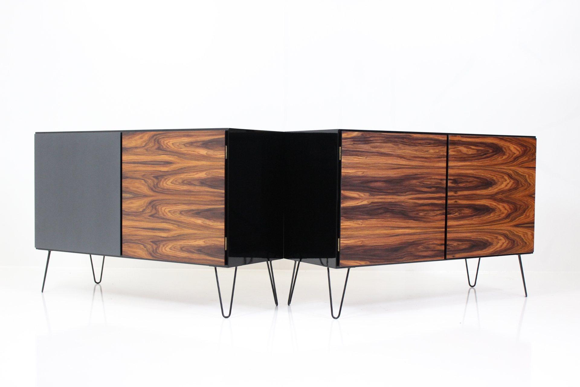 Vintage Black Gold Series Sideboards no. 4 by Gunni Oman for Omann Jun's Møbelfabrik