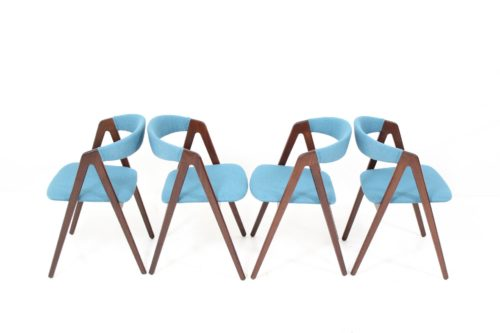 Triangular Leg Dining Chairs by Kai Kristiansen