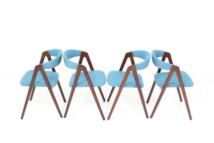 Triangular Leg Dining Chairs by Kai Kristiansen
