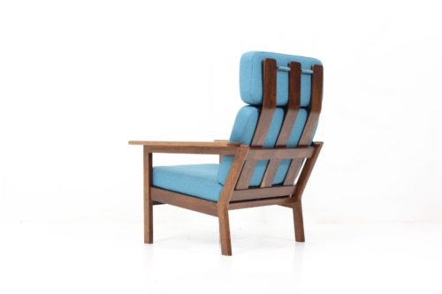 Bauhaus High Back Armchair by Børge Jensen