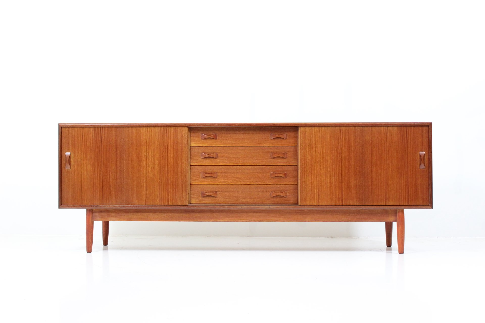 Vintage Sliding Door Sideboard by A. Clausen for Clausen & Søn Co.