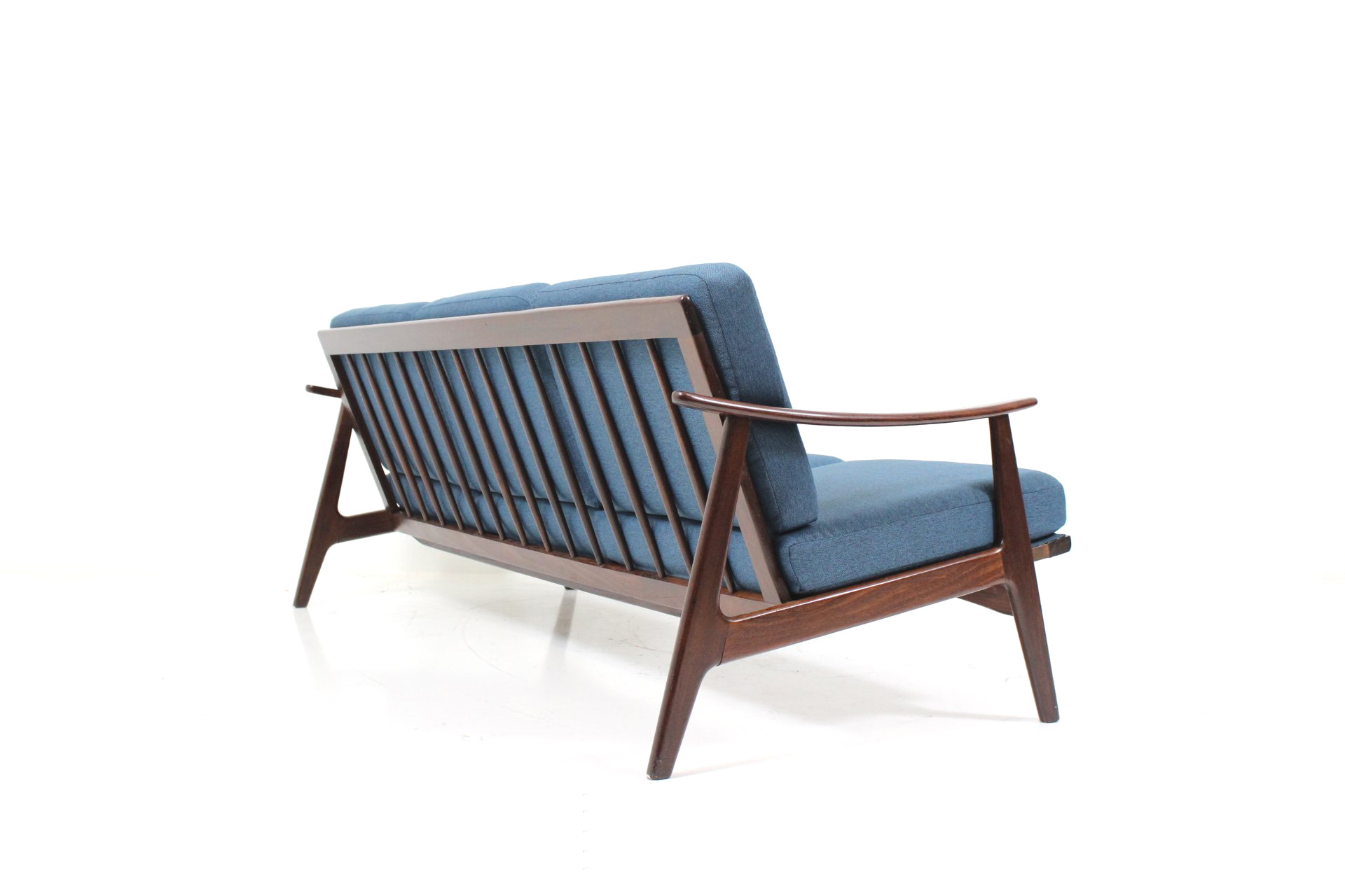 Three Seater Cushion Sofa In Teak For Knoll Antimott Davint Design