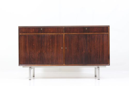Original Mid-Century sideboard with inox steel leg base by Davint Design