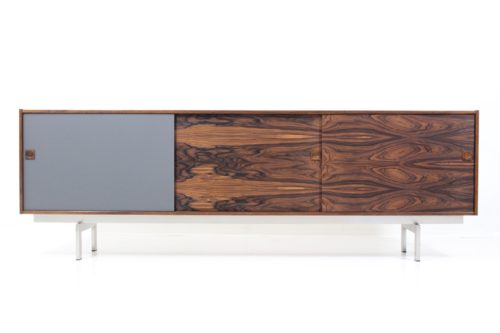 Retro Original Inox Leg Base Sideboard In Palisander